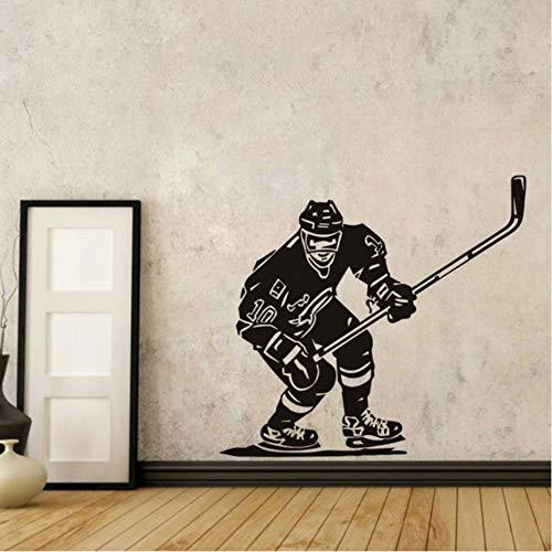 hwhz 57X60 cm Ice Hockey Player Wall Stickers NHL Sport Boy Room Mural Decor Wall Art Vinyl Decal Sticker Home Design Wallpaper Mural -