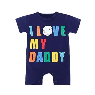 8bbcb5971abd Amazon.com  Scaling❤ Newborn Baby Boys Romper Summer Short Sleeve ...