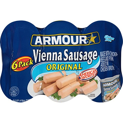 - Armour Vienna Sausage, Original, 4.6 Ounce, 6 Count