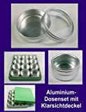 piezas mm, almacenamiento tarro aluminio , 41 tapa tin caja lata frascos diámetro tarros de especias Dosenset 12 latas transparente metal del con