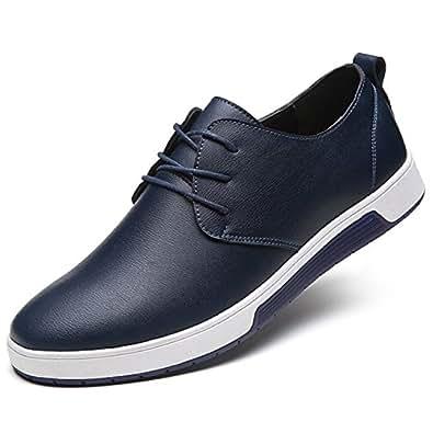 ZZHAP Men's Casual Oxford Shoes Breathable Flat Fashion Sneakers Blue Size: 12