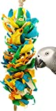 Bonka Bird Toys 41333 Corn Silk Cascade Bird Toy Cage Toys Cages Foraging Chew Shredder Amazon