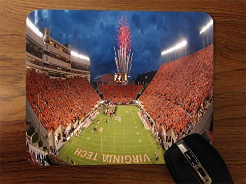 Mouse Hokies Tech Pad Virginia - College Football Stadiums Desktop Office Silicone Mouse Pad by Compass Litho