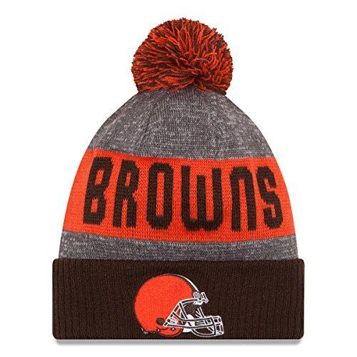 Cleveland Browns New Era 2016 NFL Sideline On Field Sport Knit Hat – Brown Cuff – DiZiSports Store