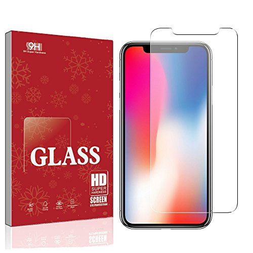 iPhone X Screen Protector Glass, Tempered Glass Screen Protector for Apple iPhone X (1-Pack)