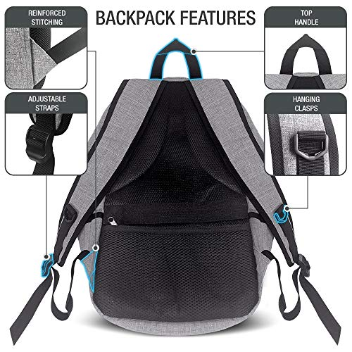 XDesign Travel Laptop Backpack with USB Charging Port +Anti-Theft Lock [Water Resistant] Slim Durable College School Computer Bookbag for Women, Men, Outdoor Camping&Fits Up to 16-inch Notebook -Grey by XDesign  (Image #3)