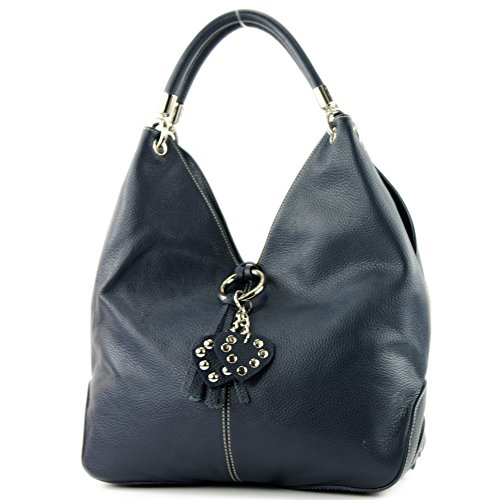 bag bag Dark handbag leather 330A shoulder bag women's Italian bag Blue CH7BxTqB
