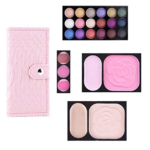 Matte Eyeshadow , Hunzed Women 25 Colors Eyeshadow Palette Cosmetic Eye Shadow Blush Lip Gloss Powder Makeup Set (Pink)