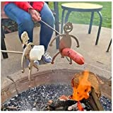 Hot Dog Roaster, Stainless Steel Marshmallow Roaster Stick, Novelty Barbecue BBQ Skewers, Barbecue Forks for Campfire, Bonfir