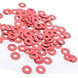Cosmos® 100 Pieces Red Color PC Motherboard Screw Insulating Fiber Washers