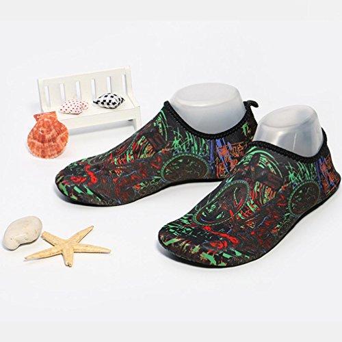 Nacome Hommes Femmes Chaussures Deau Aqua Peau Chaussures Léger Quickdry Durable Chaussettes Pour Plage Piscine Sable Natation Surf Yoga Plongée En Apnée Vert