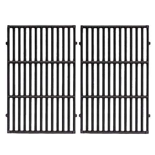 - FAS INDUSTRY 7524 Barbecue Cooking Grate Replacement, Cast Iron Cooking grill Grid for Weber E-330 Grills 19.5 x 12.9 x 0.5,Set of 2