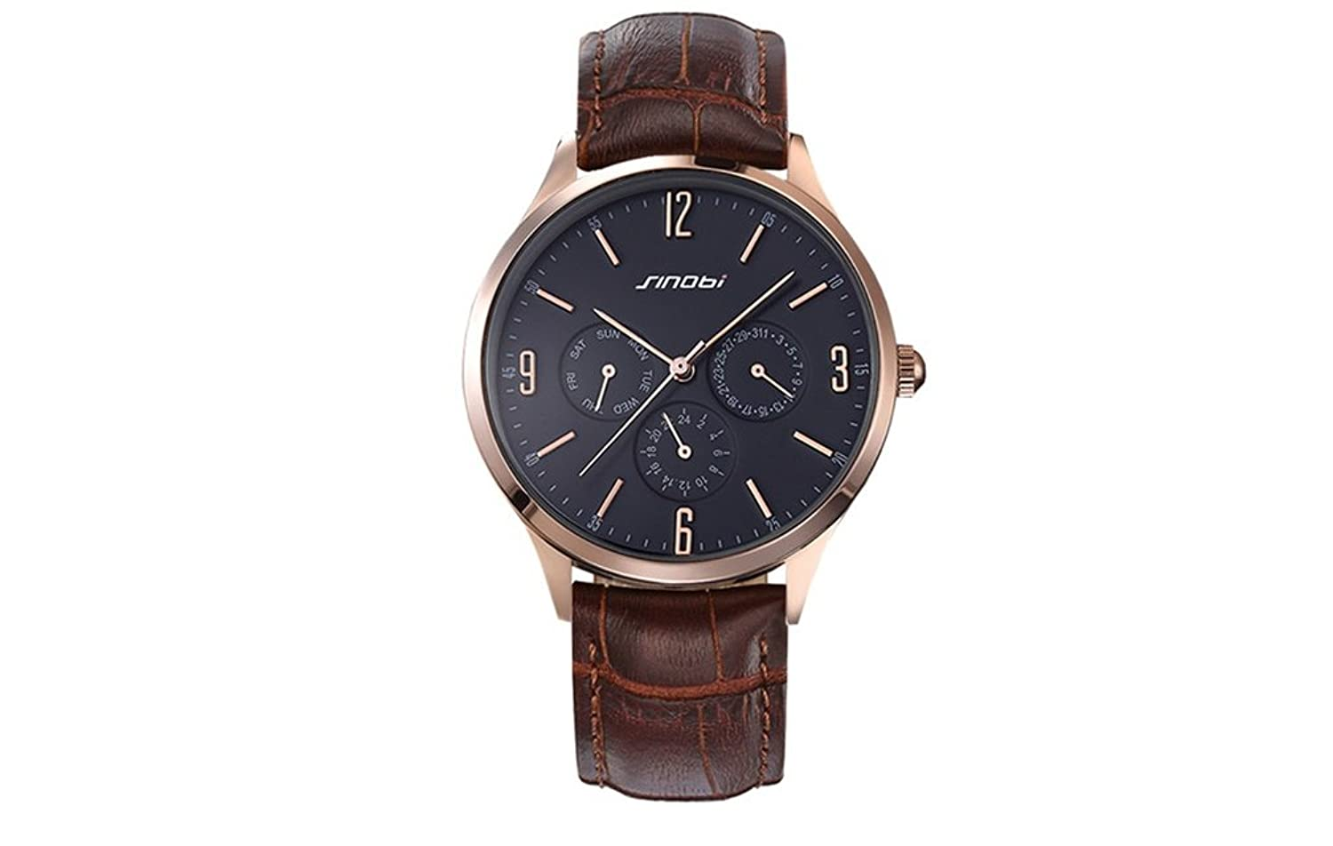 Amazon.com: Relojes de Hombre Moda 2018 Men Watches Fashion Casual Quartz Brown Leather RE0087: Watches