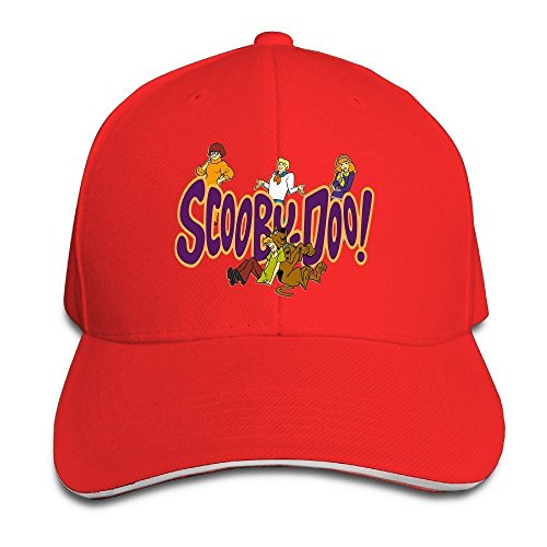 Runy Custom Scooby Doo Adjustable Sandwich Hunting Peak Hat & Cap Red (Dame Edna Costumes)
