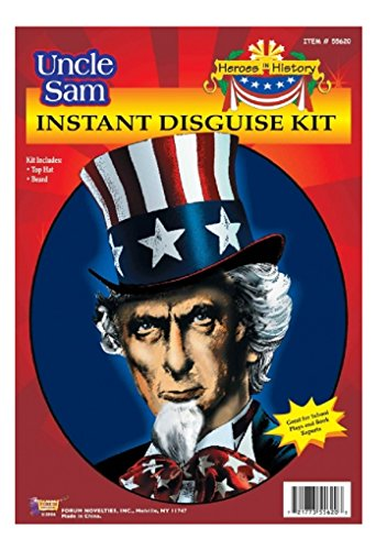 Child Heroes in History Instant Disguise Kit - Uncle Sam - Top Hat and Beard