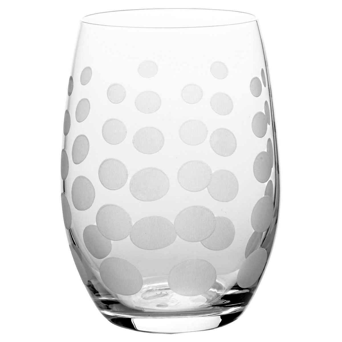 Mikasa Cheers Stemless Etched Wine Glasses, Fine European Lead-Free Crystal, 17-Ounces for Red or White Wine - Set of 6 by Mikasa (Image #6)