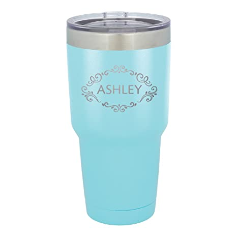 amazon com froolu insulated cups camping teal personalized laser