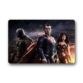 "scottshop Fashion Custom Wonder Woman Batman Superman Felpudo 30 ""(L) X 18"