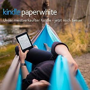 Kindle Paperwhite eReader, 15 cm (6 Zoll) hochauflösendes Display (300 ppi) mit integrierter Beleuchtung, WLAN (Schwarz) - mit Spezialangeboten