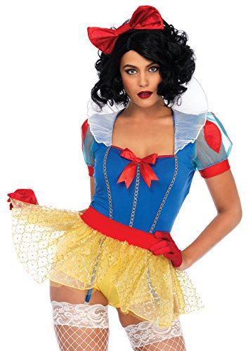 Leg Avenue Women's Sexy Miss Snow White Halloween Costume, Multi, ()