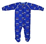 Outerstuff Boise State Broncos NCAA Baby Boys Raglan Zip-up Coverall Sleeper, Blue