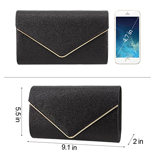 Bag Bag Wedding Shiny Prom Clutch Party 2 Rhinestone Purse Batique Cocktail Women Evening Party Black 4B81qBS