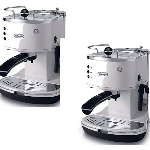 DeLonghi White Die-Cast Fully Automatic Espresso Machine - DeLonghi Model - ECO310W - Set of 2 Gift Bundle