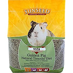 SUNSEED COMPANY 36145 1 Piece Vita Sunscription Timothy Guinea Pig Food Treat, 5 lb