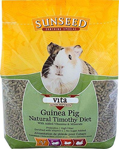 Vita Prima Guinea Pig - SUNSEED COMPANY 36145 1 Piece Vita Sunscription Timothy Guinea Pig Food Treat, 5 lb
