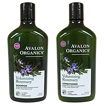 Avalon Organics Rosemary Volumizing Shampoo & Conditioner, 11 oz each