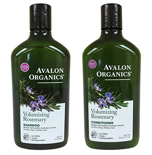 (Avalon Organics Rosemary Volumizing Shampoo & Conditioner, 11 oz each)