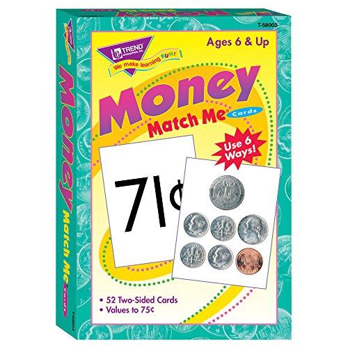 (TREND enterprises, Inc. T-58003BN Money Match Me Cards, 6 Sets)