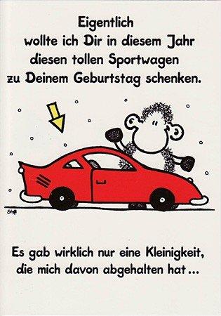 Witzige Sheepworld Geburtstagskarte Sportwagen Amazon De
