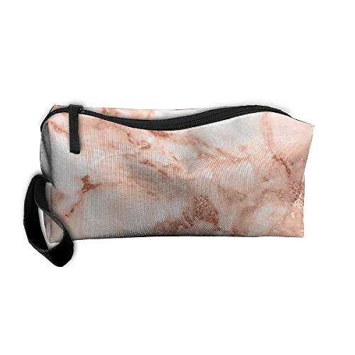 Rose Gold Marble Pattern Makeup Bag Calico Girl Women Travel Portable Cosmetic Bag Sewing Kit Stationery Bags Feature Storage Pouch Bag Multi-function (Calico Marble)