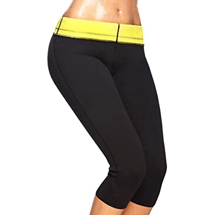 42504654eb Image Unavailable. Image not available for. Color  SLTY Women s Hot Thermo  Yoga Pants Neoprene Sweat Shaper Sauna Suits For Weight Loss