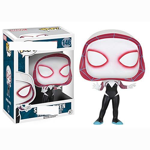 ZJAH Funko Pop Hecho a Mano arana Mujer arana Gwen muneca Modelo Adornos Peter 146 # Spider Gwen Figura Coleccionable, Multic