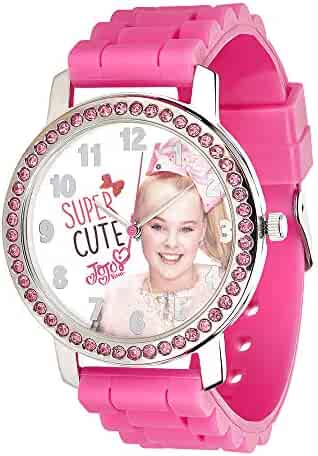 UPD JoJo Siwa Watch with Rhinestones & Ribbed Band in Window Box