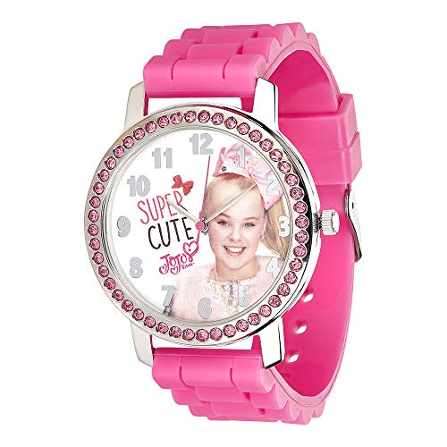 UPD JoJo Siwa Watch with Rhinestones & Ribbed Band in Window Box ()