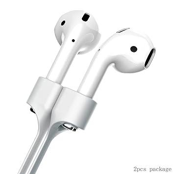 lokeke correa para auriculares Apple Airpods, magnético adsorción silicona anti-lost correa apto para iPhone 7/iPhone 7 Plus/iPhone X/iPhone 8 Airpods ...