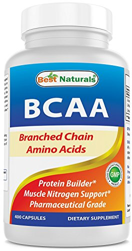 (Best Naturals BCAA Branch Chain Amino Acid, 3200mg per Serving, 400 Capsules - Pharmaceutical Grade - 100% Pure Instantized Formula | Pre/Post Workout Bodybuilding Supplement | Boost Muscle Growth)