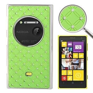 Luxury Bling Diamond Plating Skinning Plastic Case Cover Carcasa Para Nokia Lumia 1020 (Green)