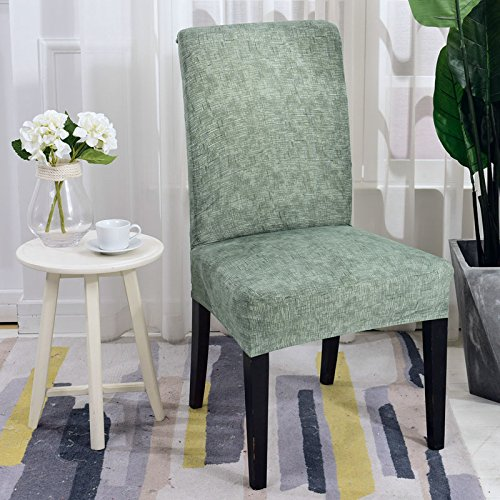 Spandex Elastic Dining Chair Cover Modern Removable Anti-Dirty Kitchen Seat Protector Case Stretch Chair Seat Covers for Banquet 14 Universal Size