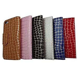 TOPAA Gold Stone Grain Pattern PU Leather Full Body Case with Stand for iPhone 5(Assorted Colors) , Brown