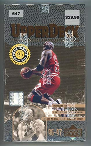 1996-97 Upper Deck Series 2 Hobby Basketball Box Michael Jordan Inserts