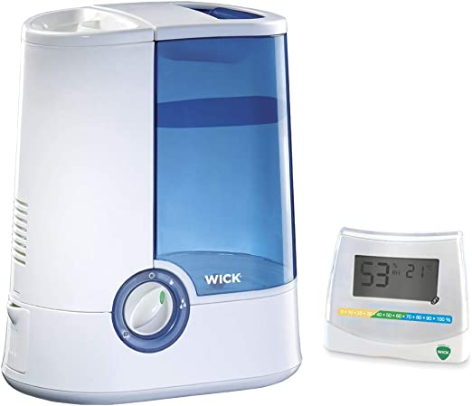 Vicks Warm Mist Humidifier with with 2 in 1 Hygrometer and Thermometer Bundle