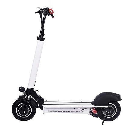 Quiet.T Scooter Eléctrico De Doble Motor, Antideslizante De Aleación De Aluminio De Grado De Aviación, Monopatín Eléctrico con Luz De Advertencia Y ...