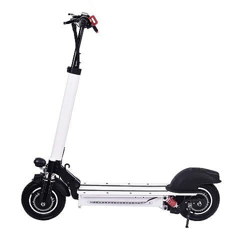 Scooter eléctrico de 10 pulgadas de doble unidad scooter eléctrico blanco (blanco)