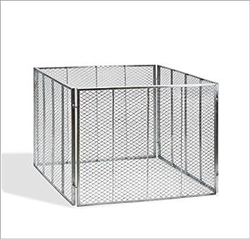 Metal Kom Póster - Compostador 107 x 107 x 82 cm vollverzinkt: Amazon.es: Jardín