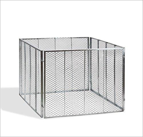 Metallkomposter - Komposter 107 x 107 x 82cm vollverzinkt
