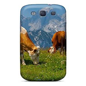 Fashionable Style Case Cover Skin For Galaxy S3- Cows Grazing On The Beautiful Alps